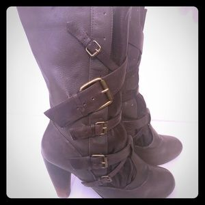 Dolce Vita Mid Calf Brown Buckle Boots